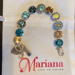 Mariana Teal/Gold/Blue Bracelet